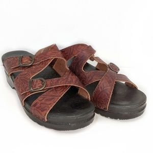 DANSKO embossed leather sandal